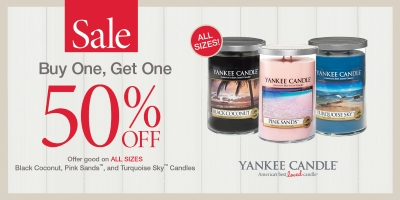 Coupon for: Yankee Candle, BOGO event