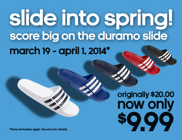 Coupon for: adidas, slide into spring