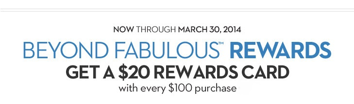 Coupon for: Chico's, Get a rewards card