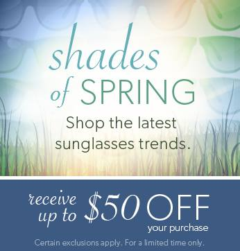 Coupon for: Solstice Sunglasses, shades of SPRING