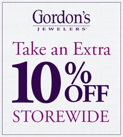 Coupon for: Gordon's Jewelers, an addtional 10% off