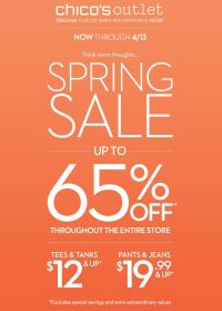 Coupon for: Chico's, Spring Sale
