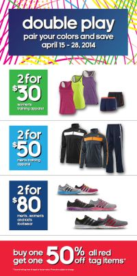 Coupon for: adidas outlet stores, double play