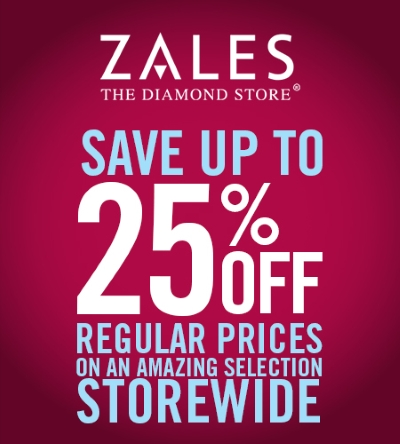 Coupon for: Zales, save up to 25%