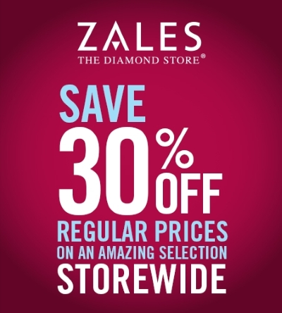 Coupon for: Zales, 30% off on an amazing selection