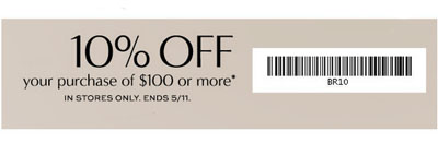 Coupon for: Banana Republic Factory Store, 10% off purchase