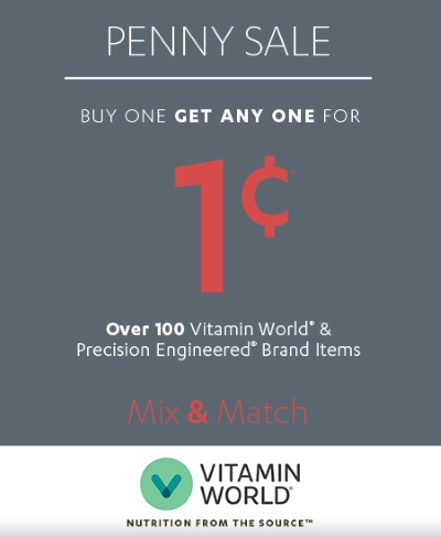 Coupon for: Vitamin World, Penny SALE