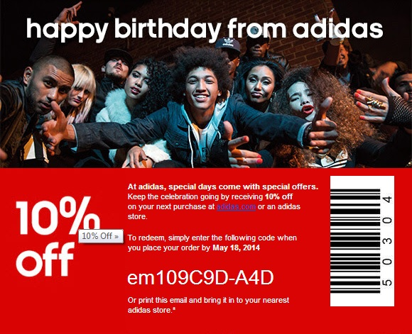 Coupon for: adidas, 10% off your purchase