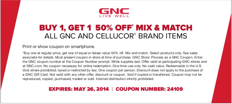 Coupon for: GNC, Memorial Day SALE