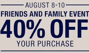 Coupon for: Gap, Friends & Family Event