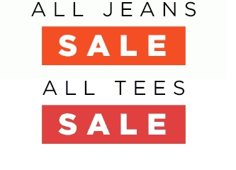 Coupon for: Old Navy, Jeans & Tees SALE