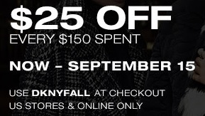 Coupon for: DKNY, $25 Off Every ...