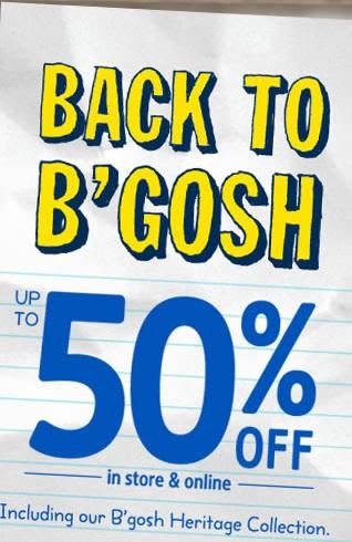 Coupon for: OshKosh B'gosh, Back to B'gosh