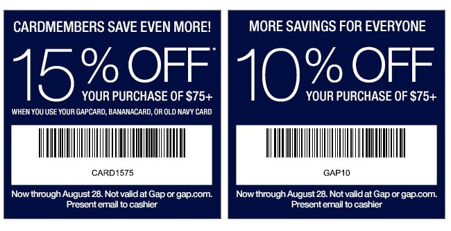 Coupon for: Gap Factory, Special deal ...