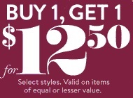 Coupon for: Charlotte Russe, Buy one, get one ...
