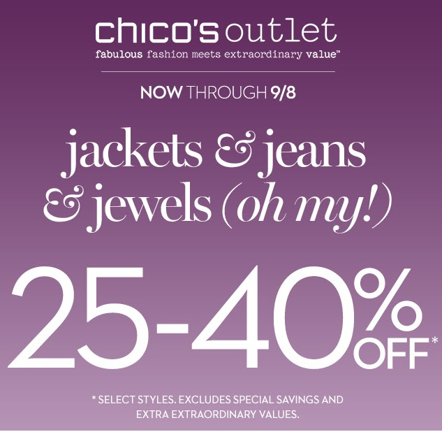 Coupon for: Chico's Outlets stores, up to 40% off ...