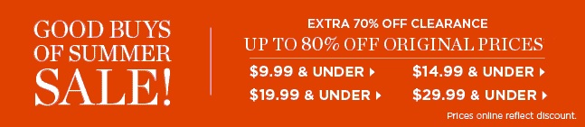 Coupon for: Talbots, End of Summer SALE