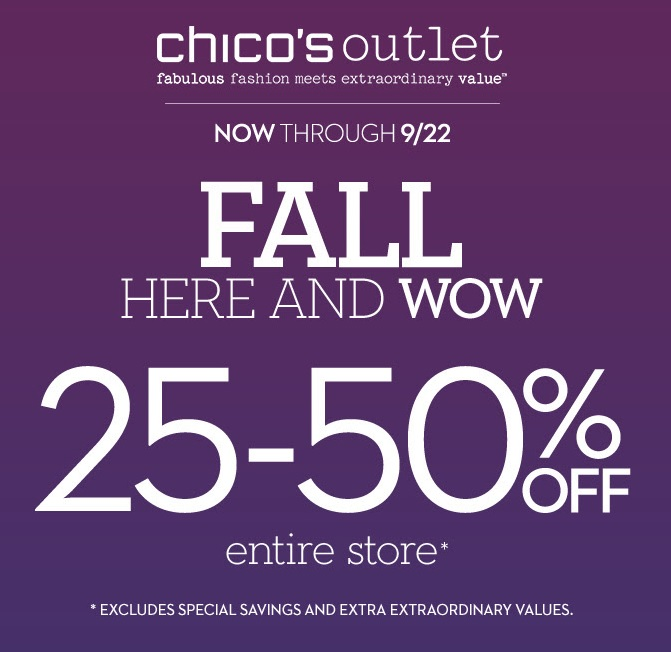 Coupon for: Chico's Outlets, Fall SALE
