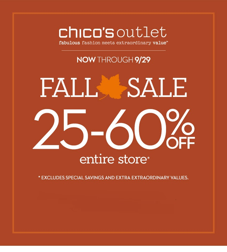 Coupon for: Chico's Outlets, up to 60% off ...