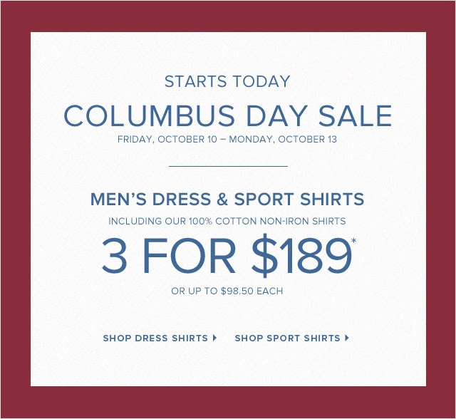 Coupon for: Brooks Brothers, Columbus Day SALE ...