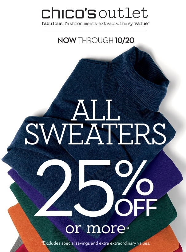 Coupon for: Chico's Outlet stores, Sweater Sale ...
