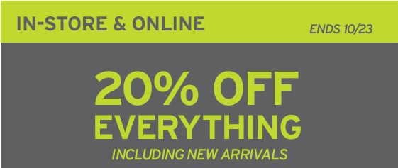 Coupon for: Eddie Bauer, 20% off everything