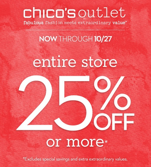 Coupon for: Chico's Outlets, SALE, SALE, SALE ...