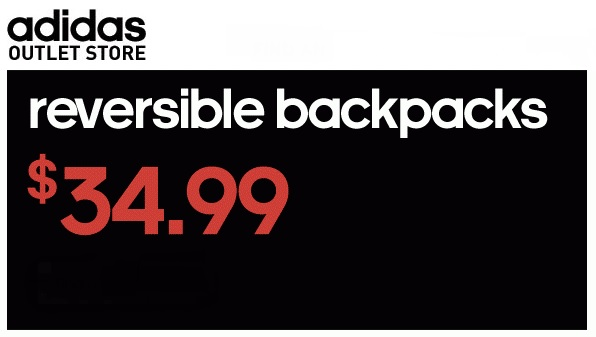 Coupon for: adidas Outlet Stores, reversible backpacks ...