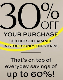 Coupon for: Banana Republic Factory Store, 30% off entire ...