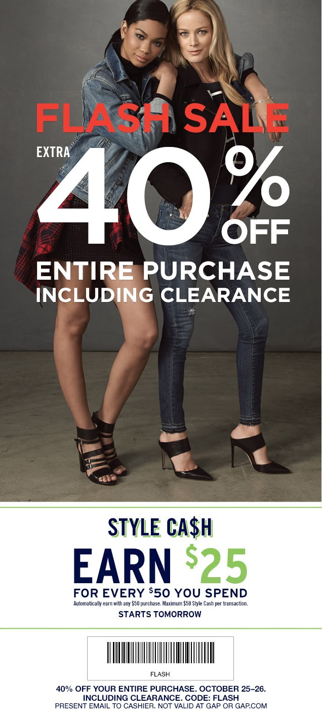 Coupon for: Gap Factory Stores, Flash SALE