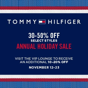 Coupon for: Tommy Hilfiger, Annual Holiday SALE ...