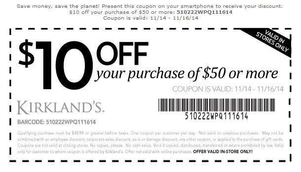 Coupon for: Kirkland's, Save Big this weekend ...