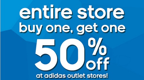 Coupon for: adidas outlet stores, BOGO SALE ...