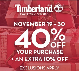 Coupon for: Timberland Factory Stores, Black Friday 2014 Ad ...