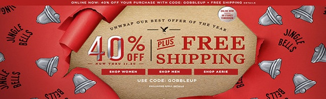 Coupon for: American Eagle Outfitters, Black Friday SALE is here ...