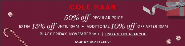 Coupon for: Cole Haan & Premium Outlets, Black Friday 2014 ...