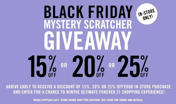 Coupon for: Forever 21, Black Friday Deals ...