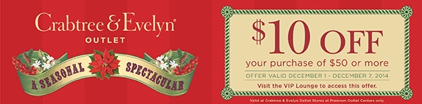 Coupon for: Crabtree & Evelyn, 10% off your ...