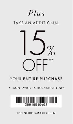 Coupon for: Ann Taylor Factory, Season for sweaters ...