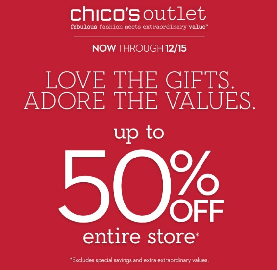 Coupon for: Chico's Outlets, Love the gifts ...