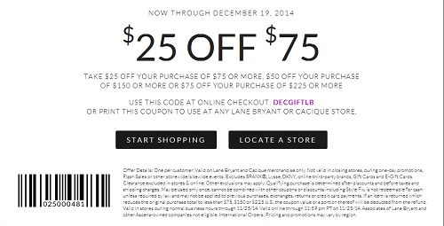 Coupon for: Lane Bryant, Spend more, save more ...