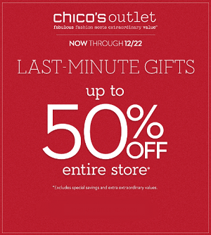 Coupon for: Chico's Outlets, Sale: Up to 50%