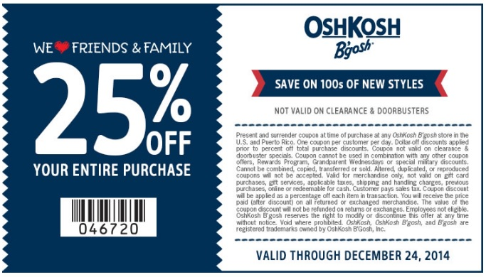 Coupon for: carter's, Friends & Family Event ...