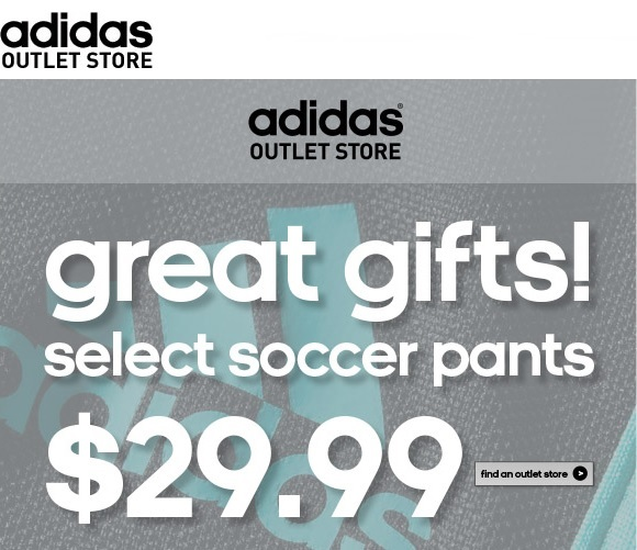 Coupon for: adidas outlet stores, great gifts