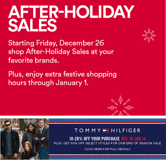 Coupon for: Premium Outlets, After-Holiday SALE ...