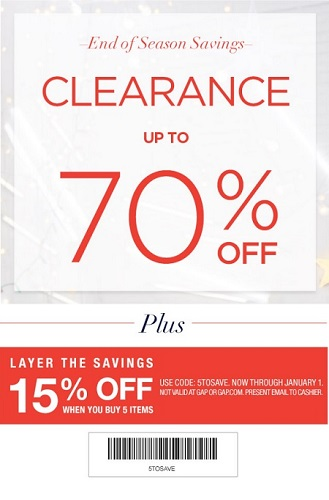 Coupon for: Gap Factory Stores, End of Season Savings ...