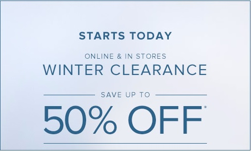 Coupon for: Brooks Brothers, Winter Clearance