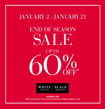 Coupon for: Woodfield Mall, White House | Black Market End of Season Sale