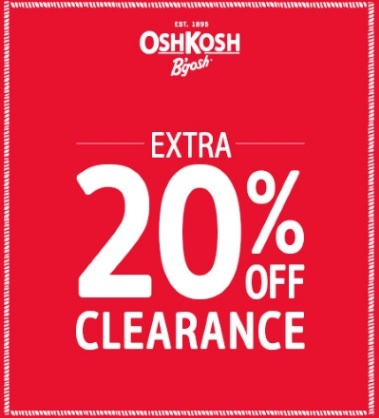Coupon for: OshKosh B'gosh, Clearance with extra discount