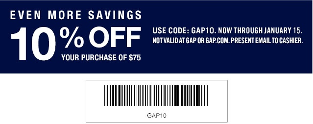 Coupon for: Gap Factory Stores, Everything on SALE